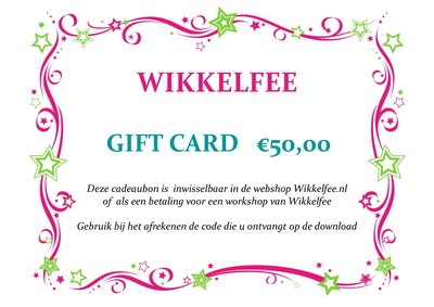 Gift-card 50 euro