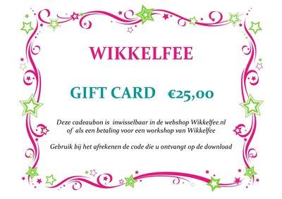 Gift-card 25 euro