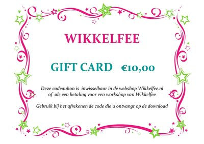 Gift-card 10 euro